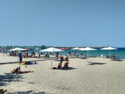 пляж в Ченоморском